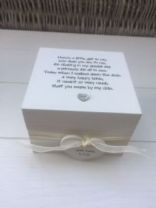 Shabby Personalised Chic Gift Bridesmaid Maid Of Honour Wedding Trinket Box - 232212326500